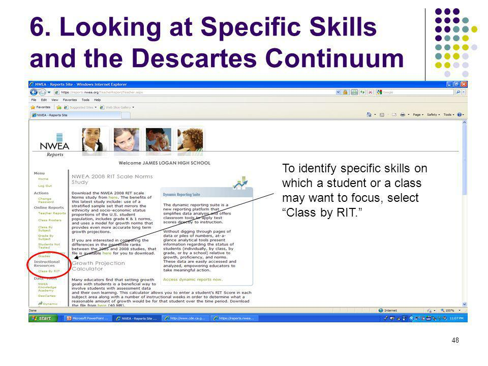 6. Looking at Specific Skills and the Descartes Continuum