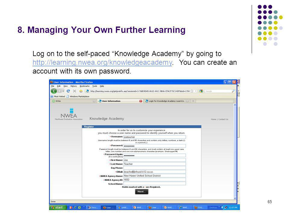 8. Managing Your Own Further Learning