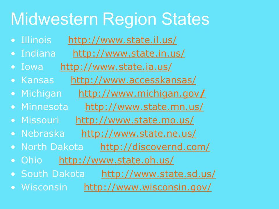 Midwestern Region States