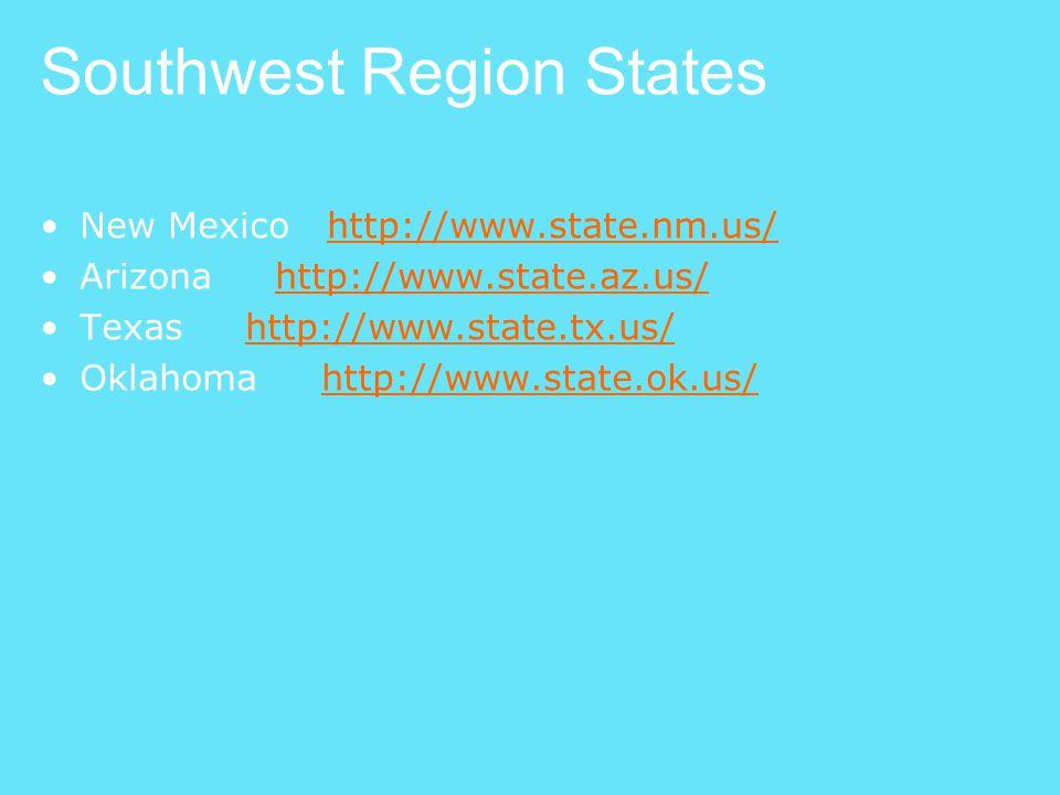 Southwest Region States