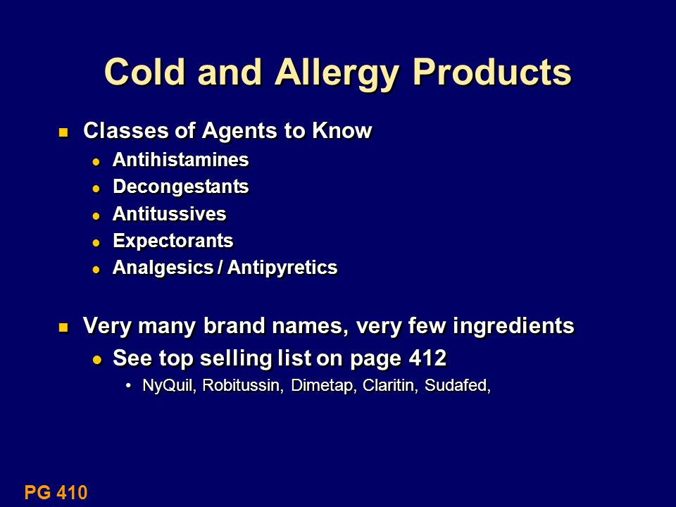 Cold and Allergy Products