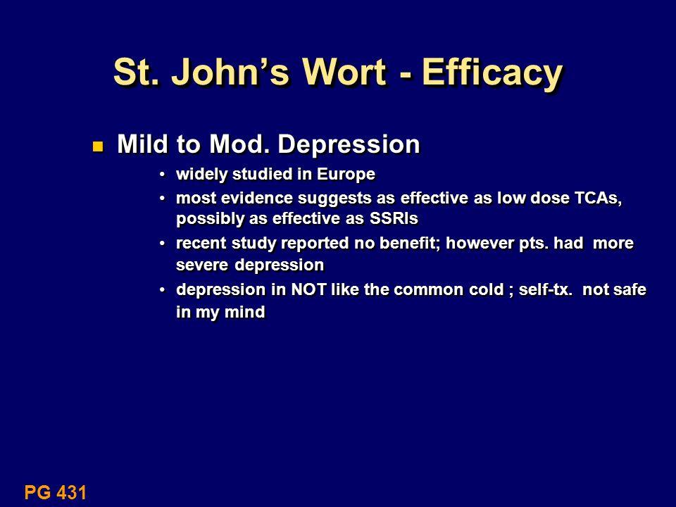 St. John's Wort - Efficacy