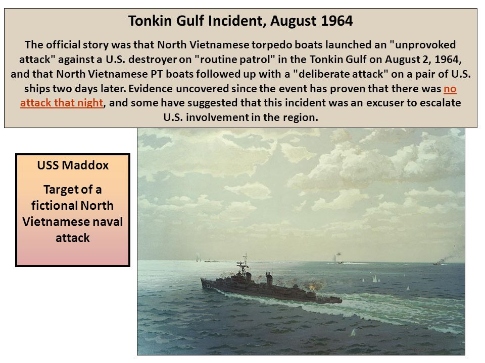 Tonkin Gulf Incident, August 1964