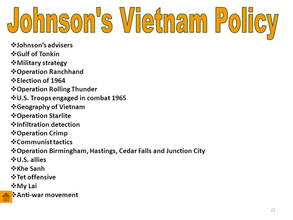 Johnson s Vietnam Policy