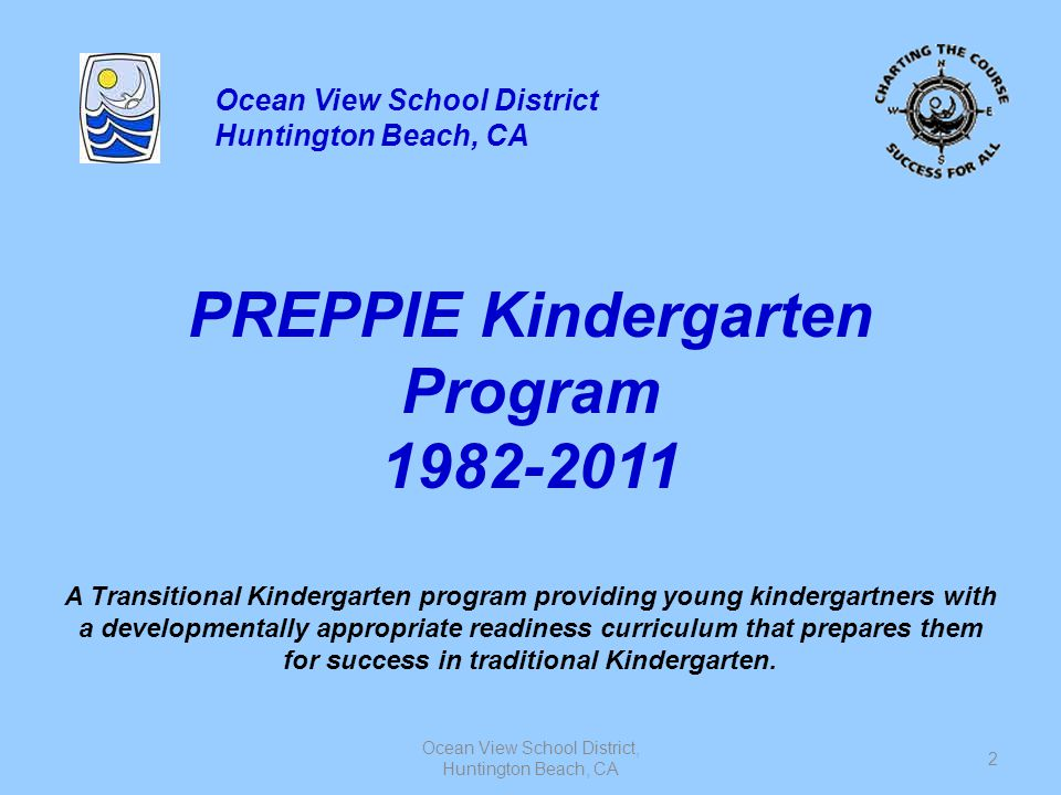 PREPPIE Kindergarten Program 1982-2011