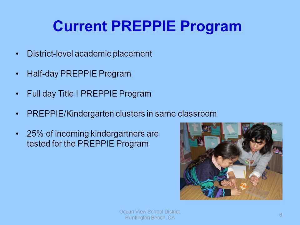 Current PREPPIE Program