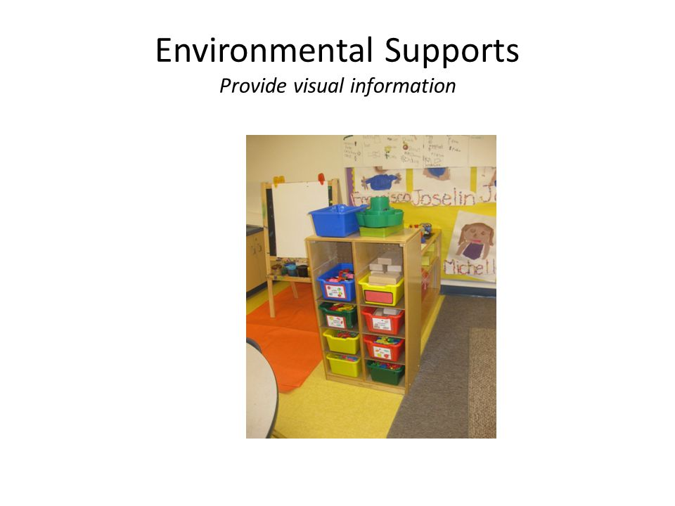 Environmental Supports Provide visual information
