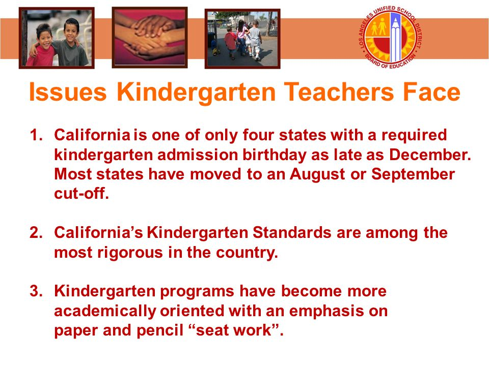 Issues Kindergarten Teachers Face