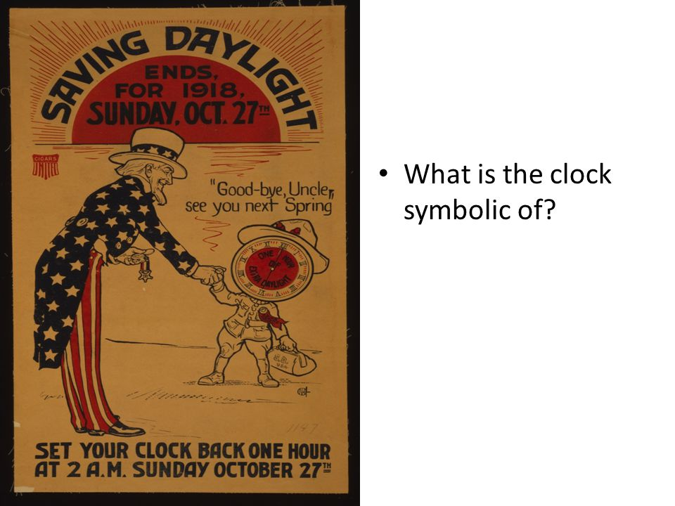 What is the clock symbolic of