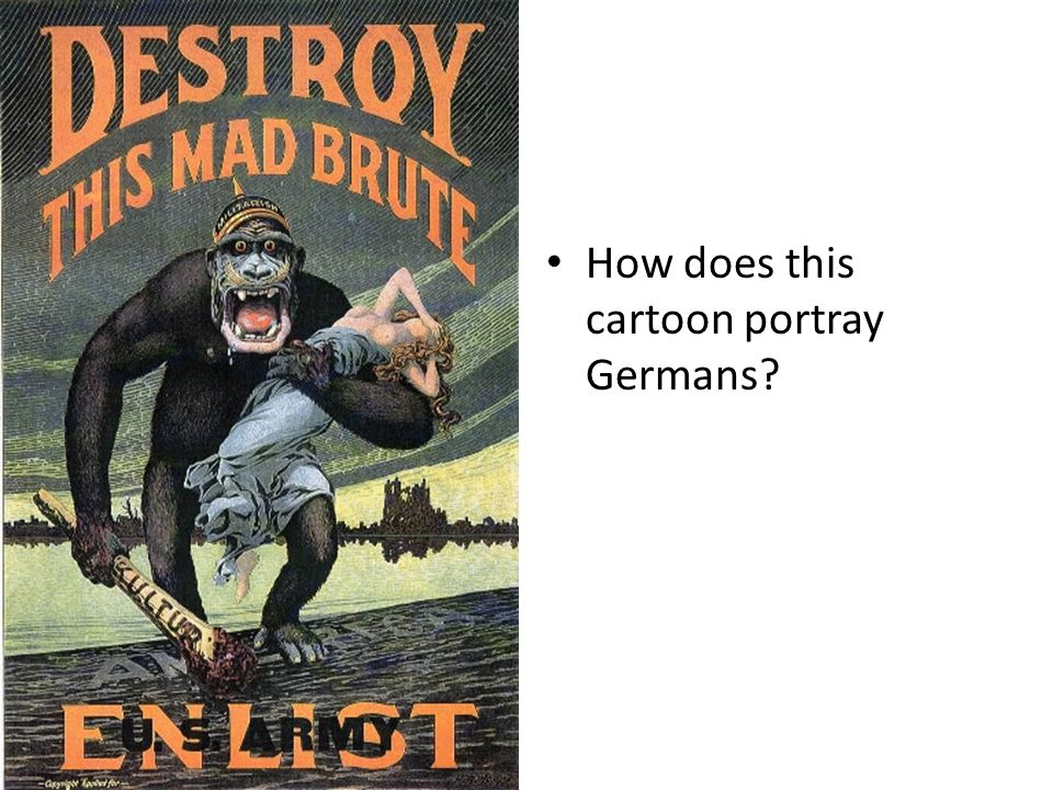 How does this cartoon portray Germans