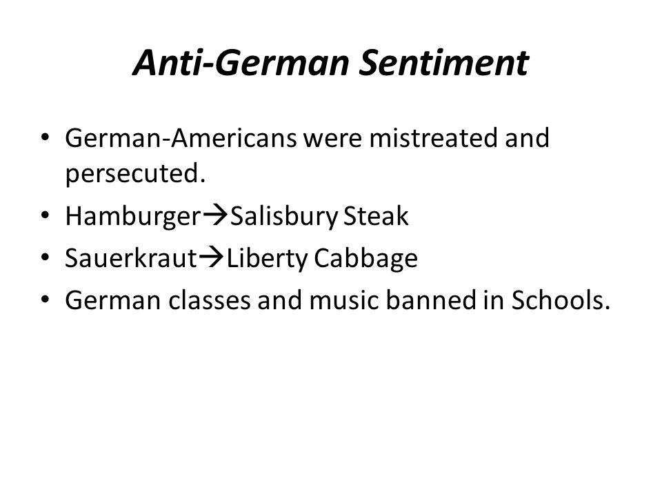Anti-German Sentiment