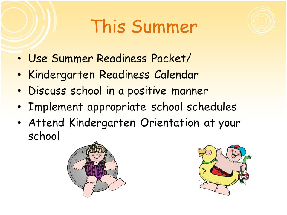 This Summer Use Summer Readiness Packet/