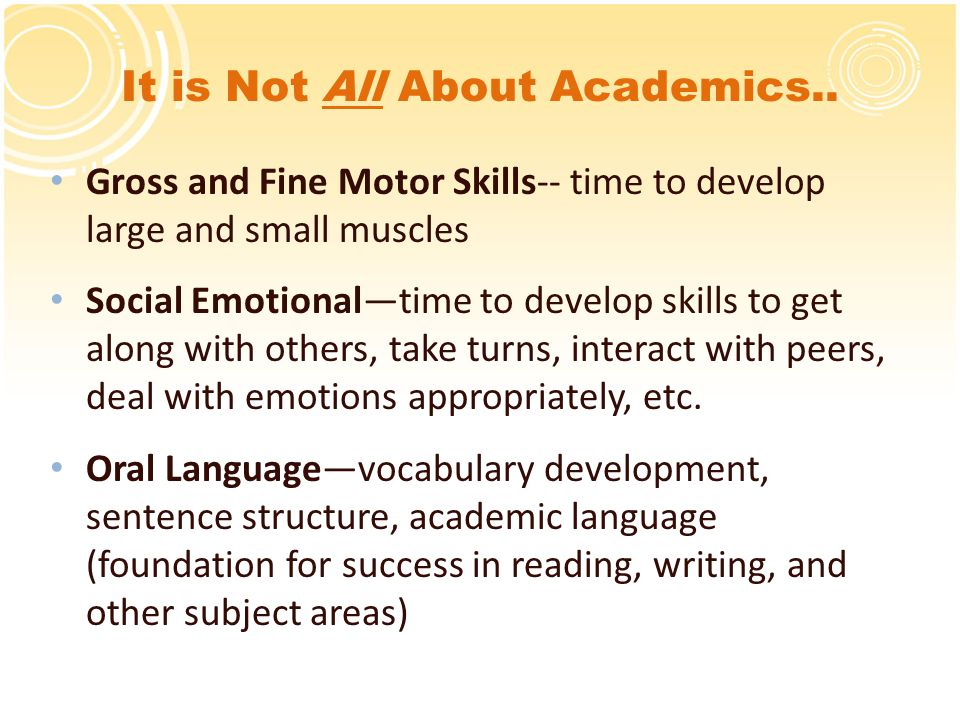 It is Not All About Academics..