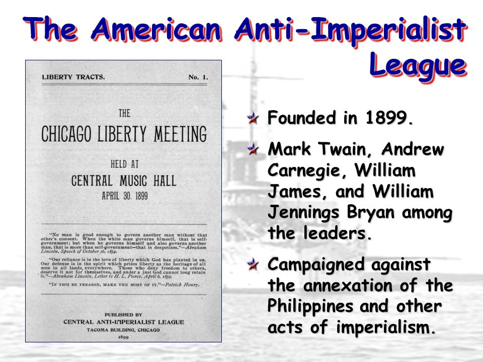 The American Anti-Imperialist League