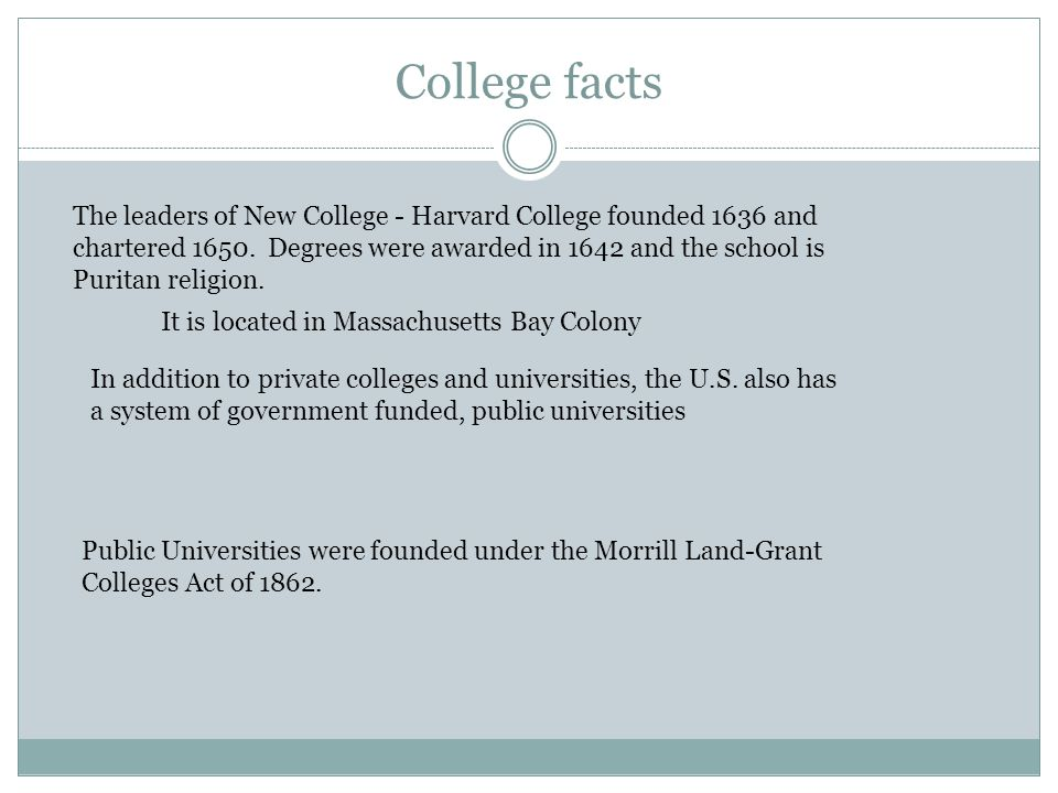 College facts