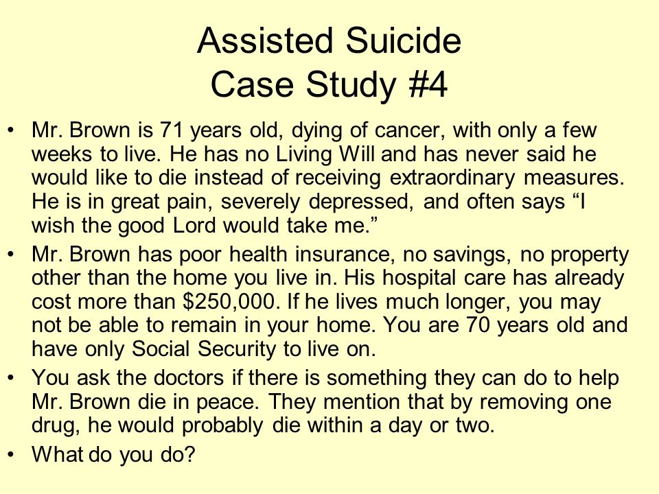 Assisted Suicide Case Study #4