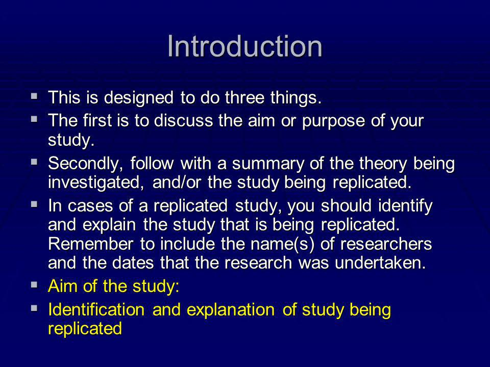 Introduction This is designed to do three things.