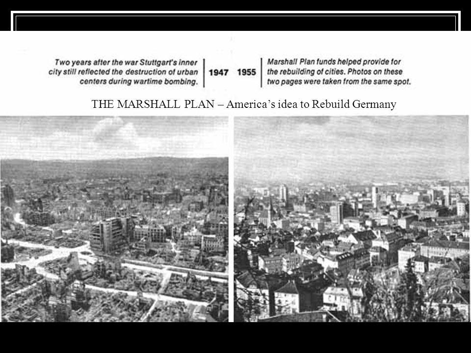 THE MARSHALL PLAN – America's idea to Rebuild Germany