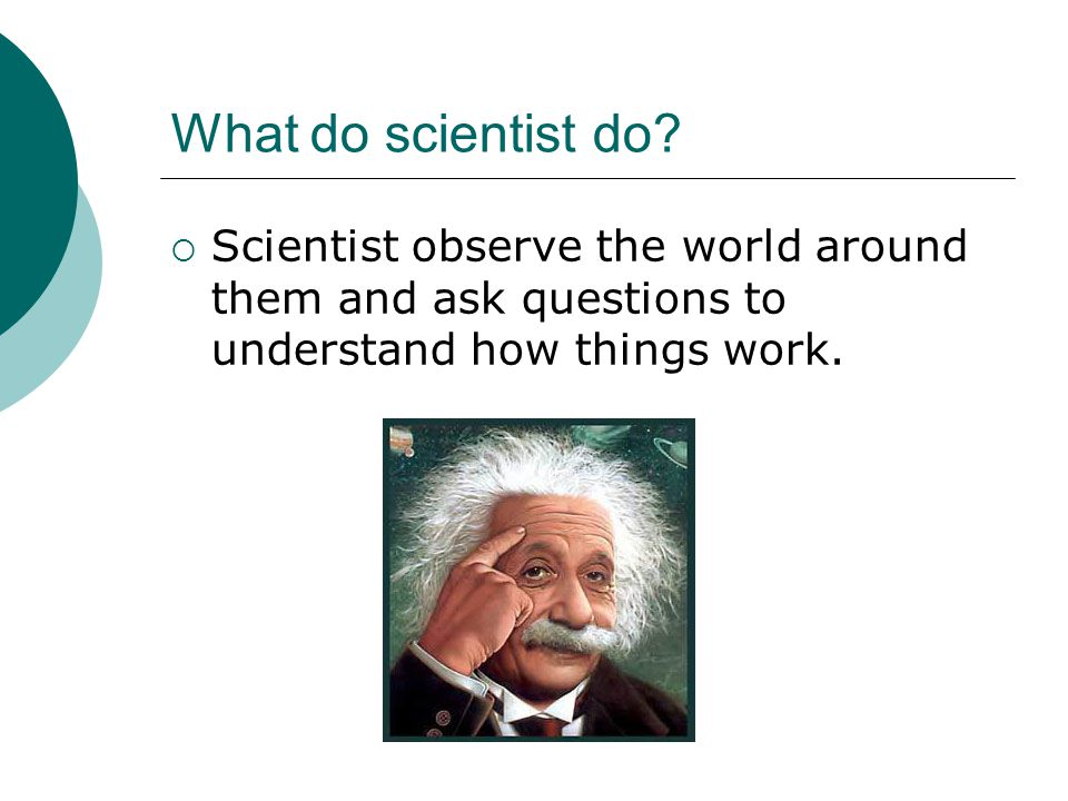 What do scientist do.