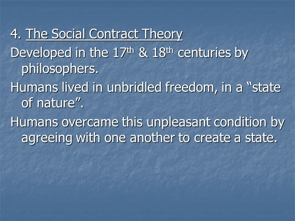 4. The Social Contract Theory