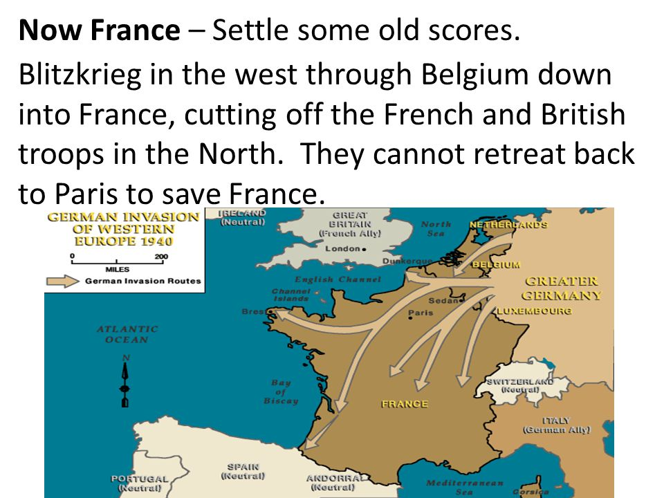 Now France – Settle some old scores.