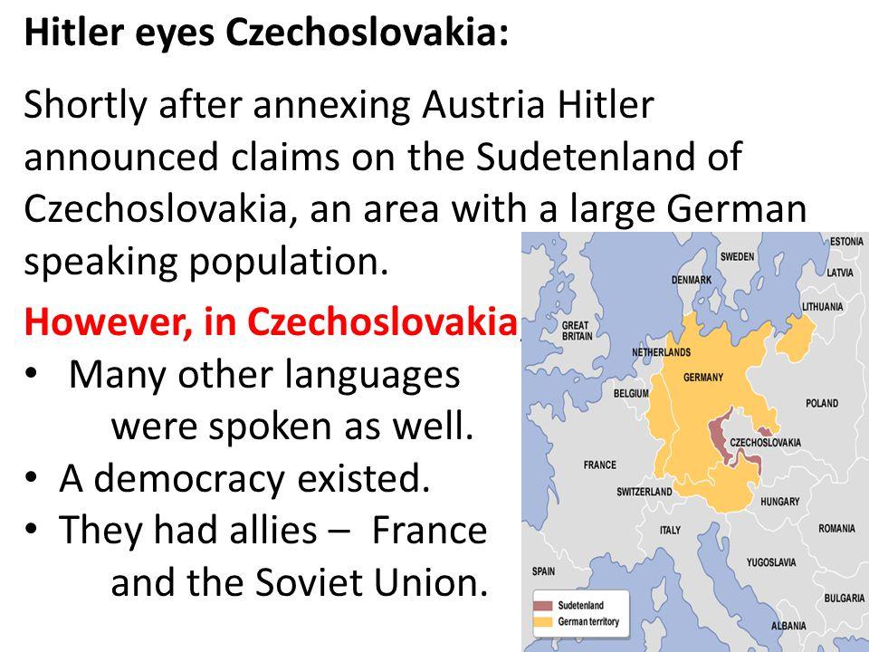 Hitler eyes Czechoslovakia: