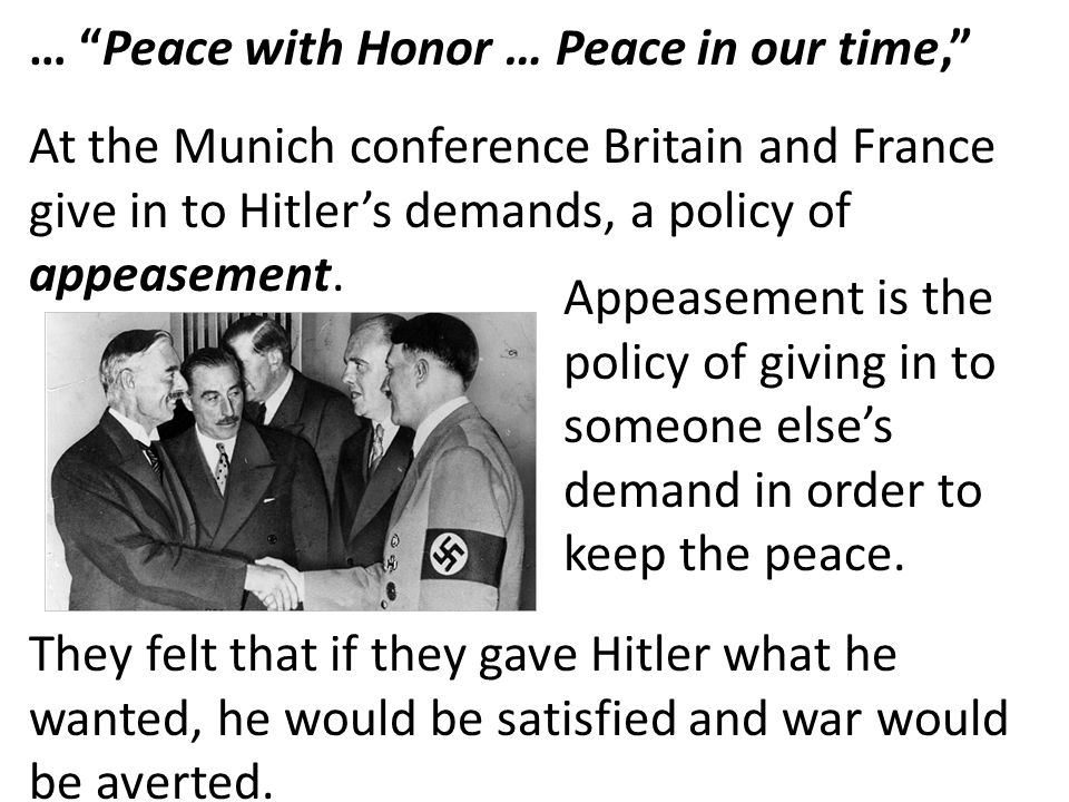 … Peace with Honor … Peace in our time,