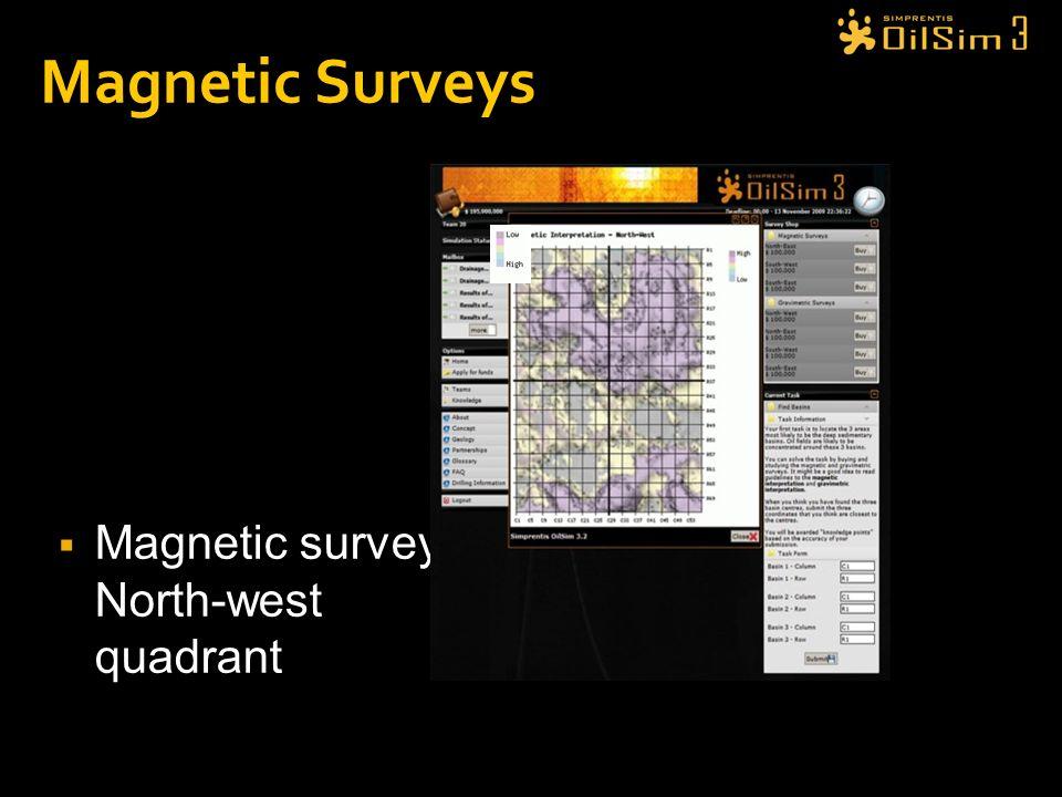 Magnetic Surveys Magnetic survey: North-west quadrant