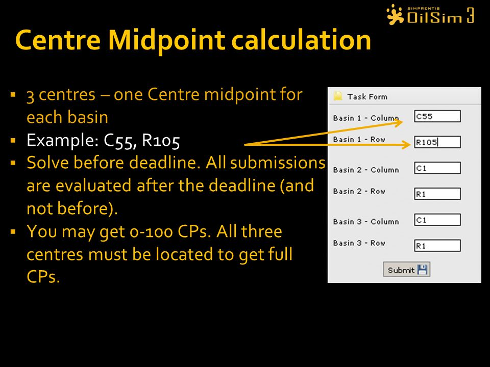 Centre Midpoint calculation