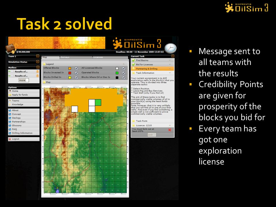Task 2 solved Message sent to all teams with the results