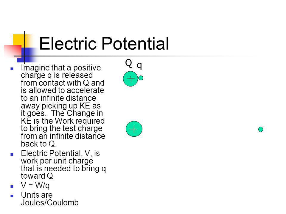 Electric Potential Q. q.