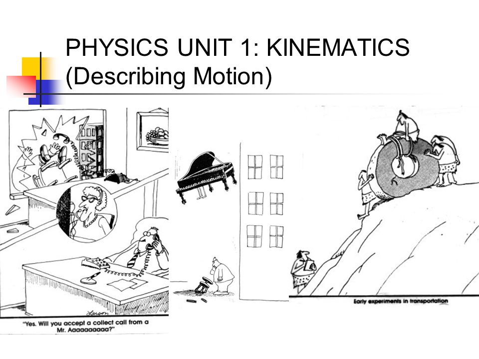 PHYSICS UNIT 1: KINEMATICS (Describing Motion)