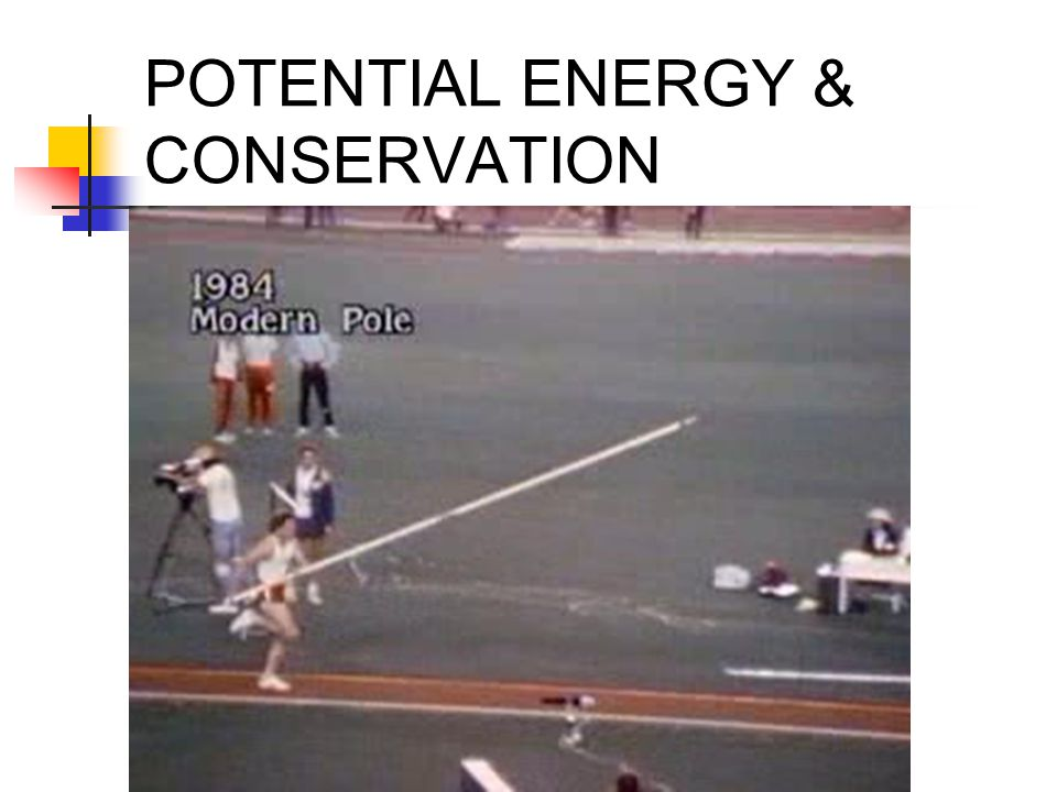 POTENTIAL ENERGY & CONSERVATION