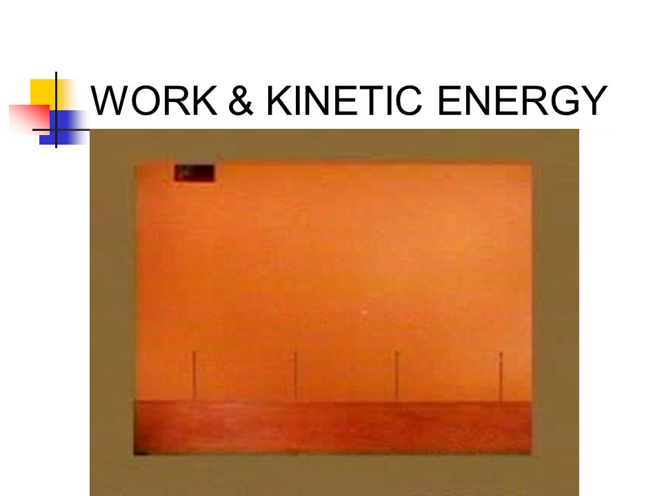 WORK & KINETIC ENERGY