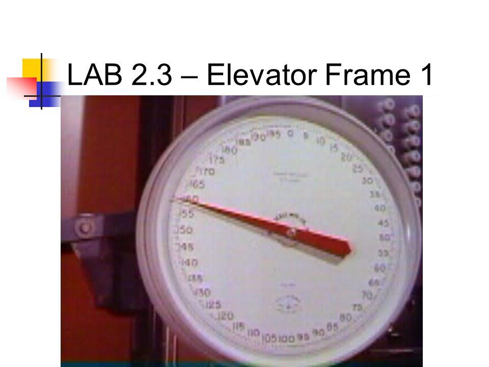LAB 2.3 – Elevator Frame 1