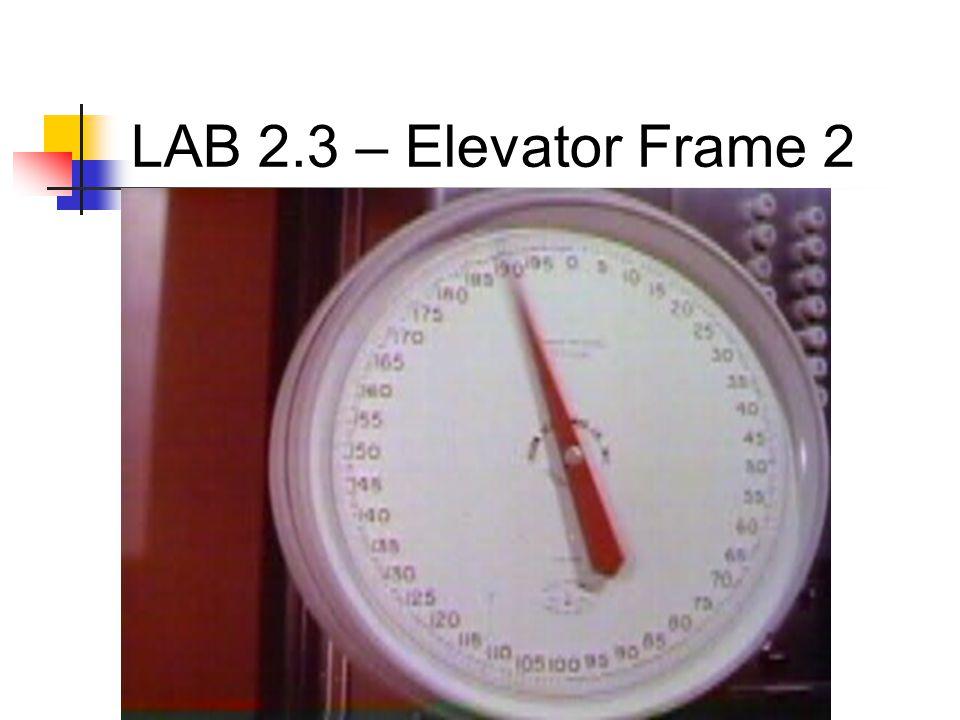 LAB 2.3 – Elevator Frame 2