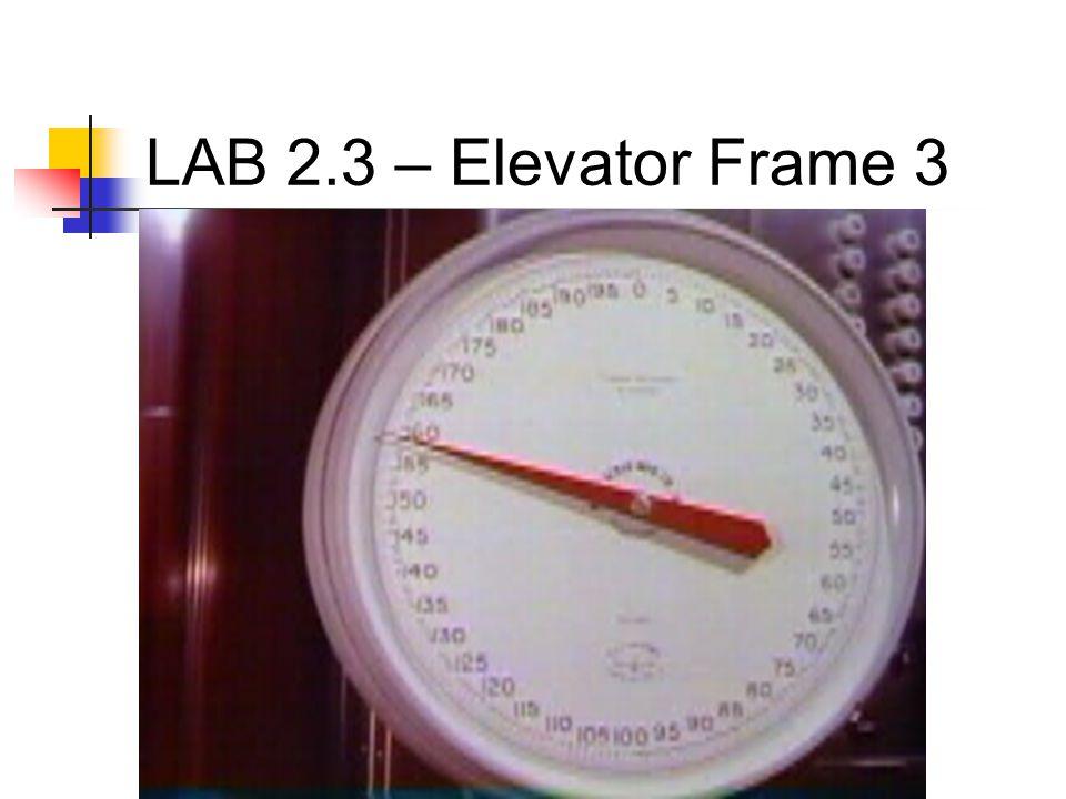 LAB 2.3 – Elevator Frame 3
