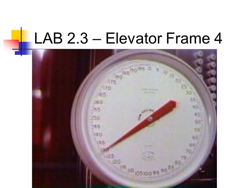 LAB 2.3 – Elevator Frame 4