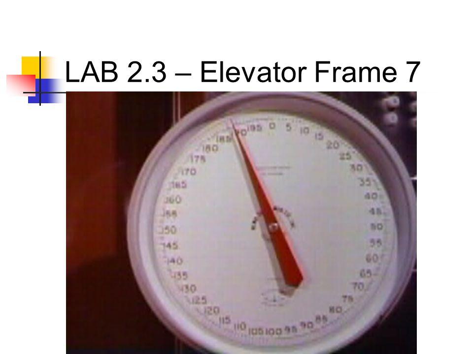 LAB 2.3 – Elevator Frame 7