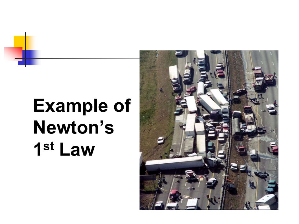 Example of Newton's 1st Law