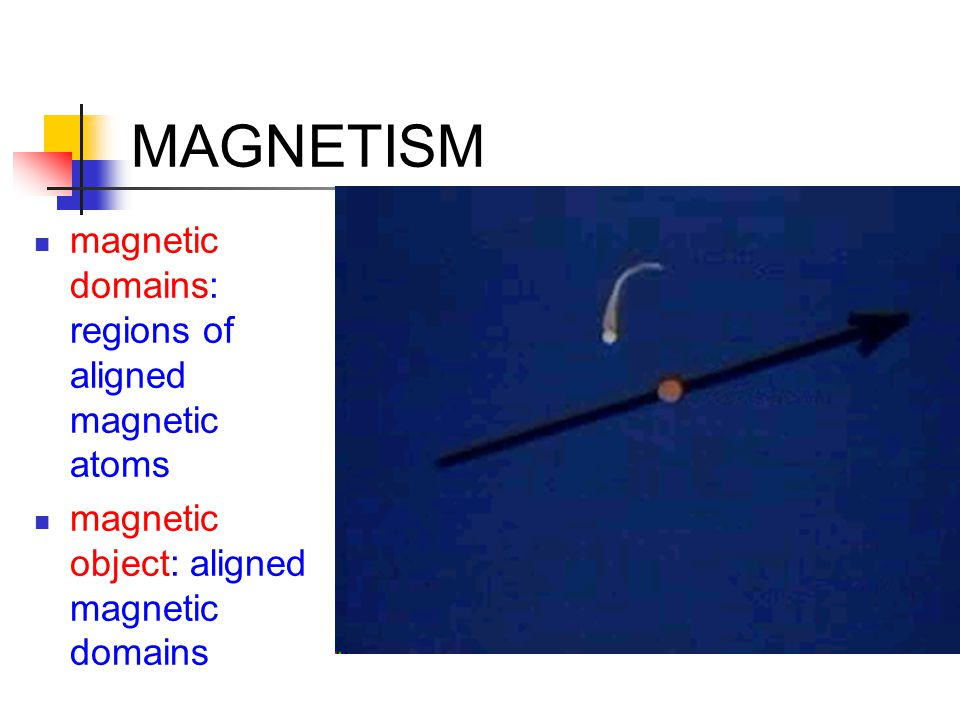 MAGNETISM magnetic domains: regions of aligned magnetic atoms