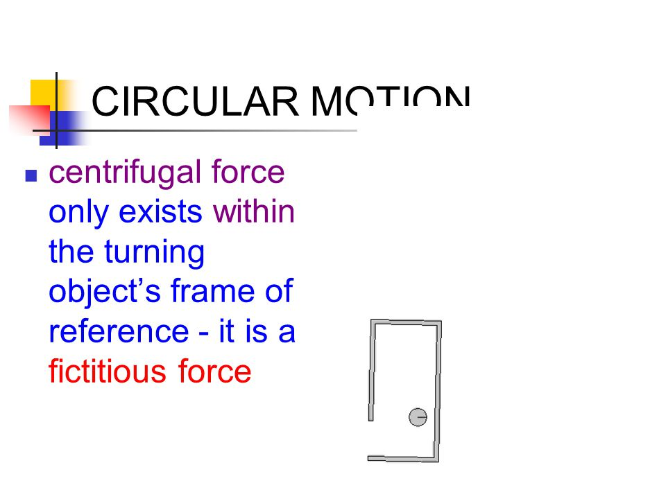 CIRCULAR MOTION centrifugal force only exists within the turning object's frame of reference - it is a fictitious force.