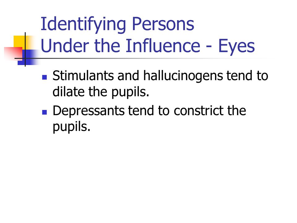 Identifying Persons Under the Influence - Eyes