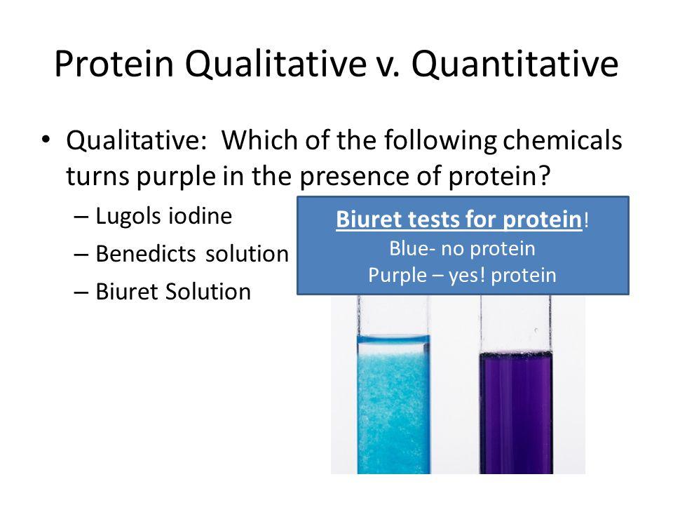 Protein Qualitative v. Quantitative
