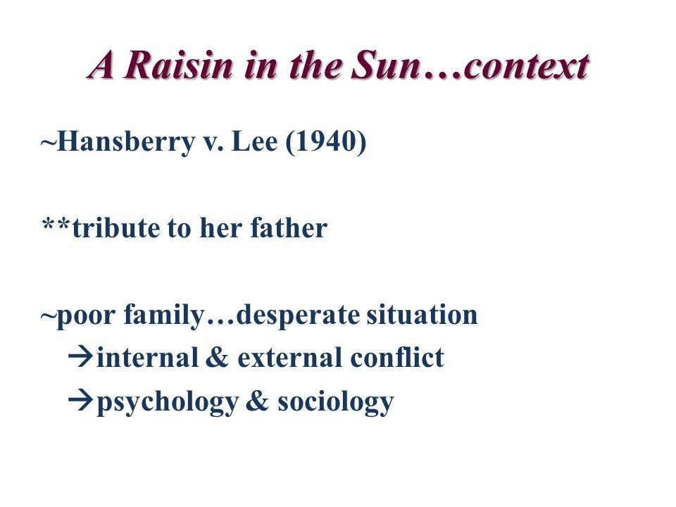 A Raisin in the Sun…context