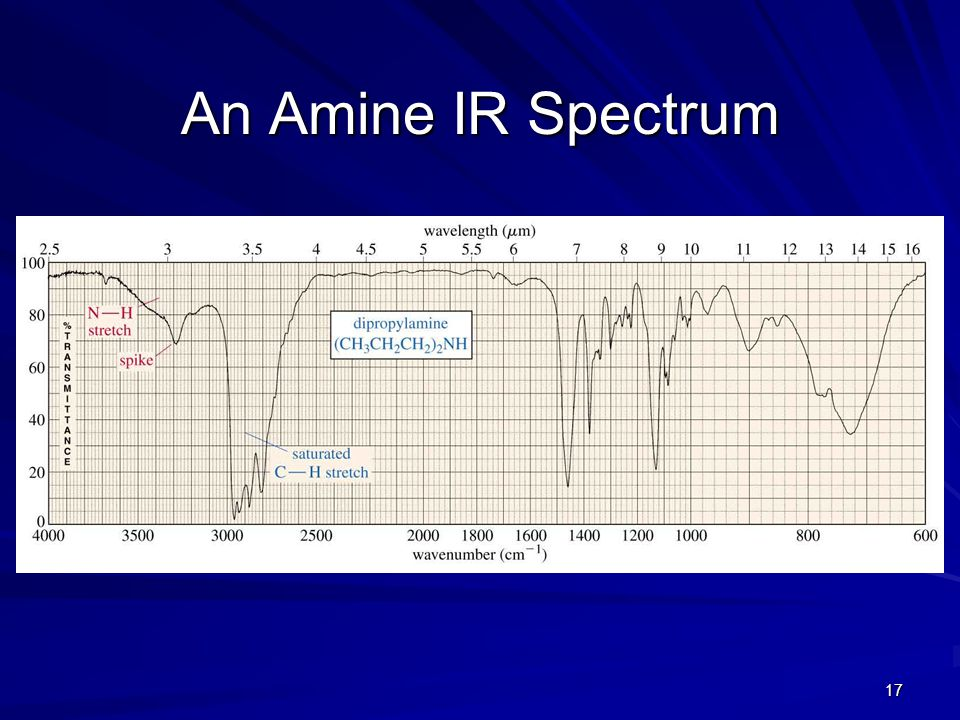 An Amine IR Spectrum