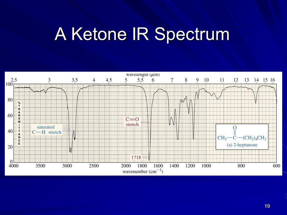 A Ketone IR Spectrum