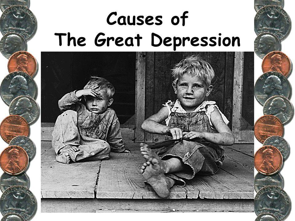what caused the great deppression essay Free essay on great depression free example essay writing on great depression this was caused by the high tariffs making the export of goods very unprofitable.