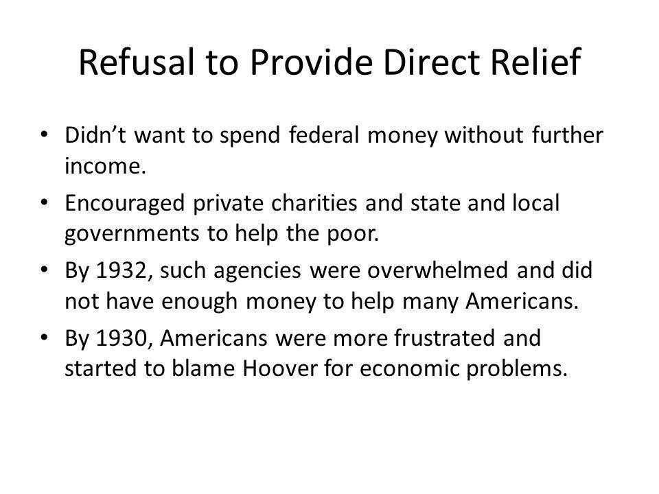 Refusal to Provide Direct Relief