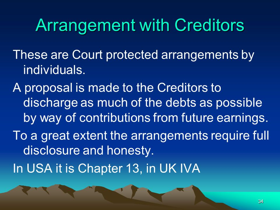 Arrangement with Creditors